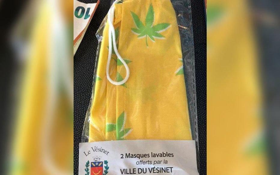 Yvelines : des masques décorés avec des feuilles de cannabis distribués au Vésinet