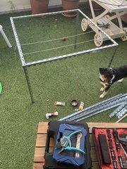 Construction d'une cage pour supporter les filles